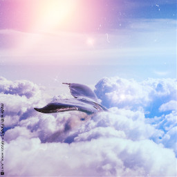 whale peace clouds aesthetic animals freetoedit