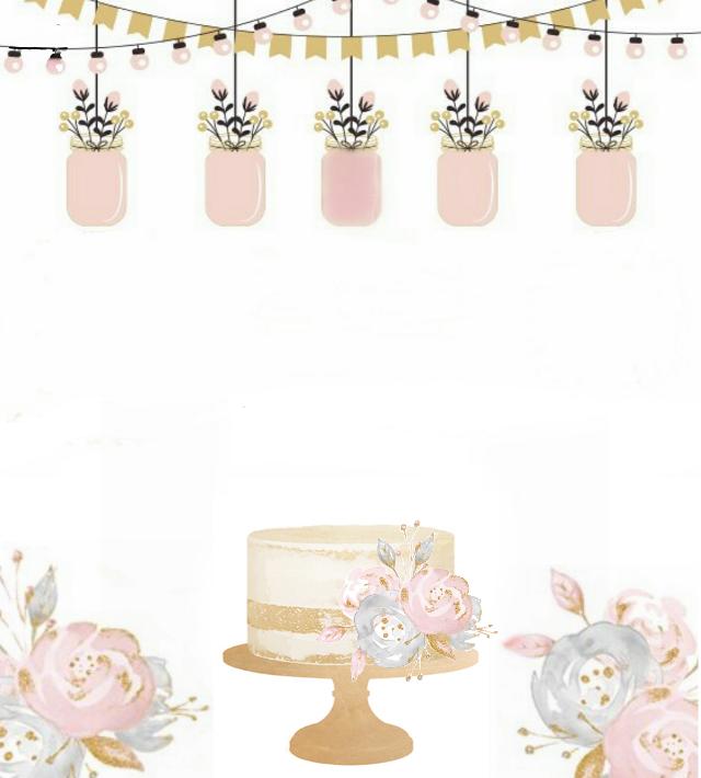 #card #invitation #cake #pink #stephaniejordan53 #freetoedit