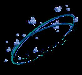 planet green blue halo crown freetoedit