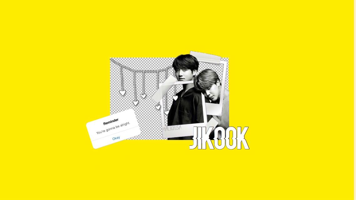 #jikook #bts #yellow #wallpapern#desktop #aesthetic #edits #jungkook #jimin #kpop #ships #blackandwhite  #freetoedit