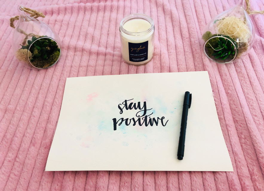 It's important for us to stay positive in these tough times!!! #calligraphy #staypositive #relaxing