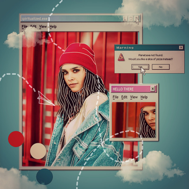 #computer #airplane #girl  #freetoedit