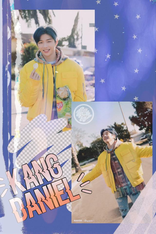 Thoughts? #daniel #kang #kpop #cute #replay #yellow #blue #freetoedit