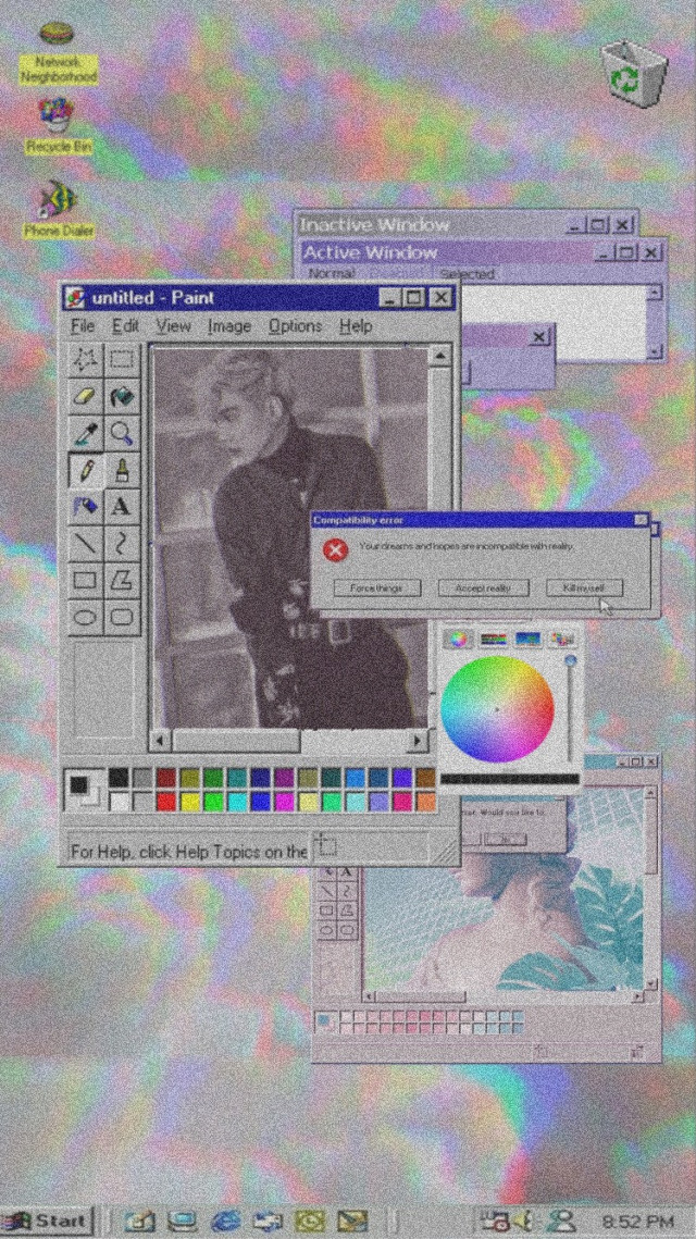 #freetoedit #wallpaper #wallpaperkpop #suga #microsoft #windows95 #aesthetic #boyfriend #boyband #bts