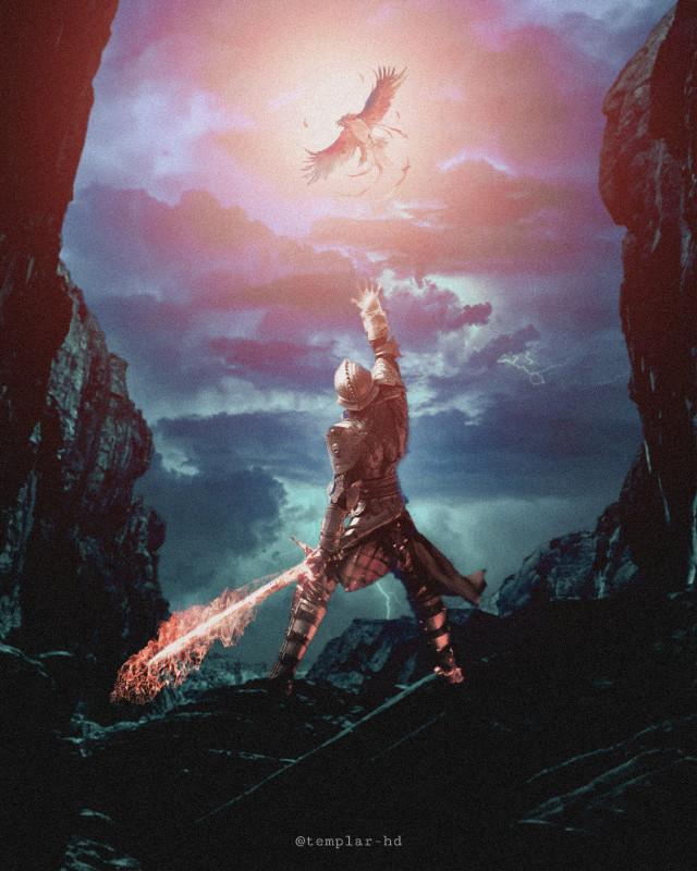 The rise of the phoenix #templarhd #digitalart #knight #phoenix #digitalart #stayinspired #freetoedit
