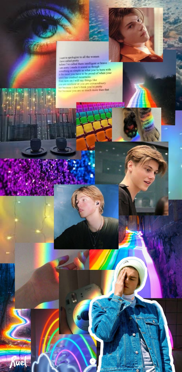 #freetoedit #ruel #ruelvandijk #rainbow #wallpapers #rainbowaesthetic #beautifulboy
