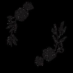 laurel frame flowers floral embellishment freetoedit