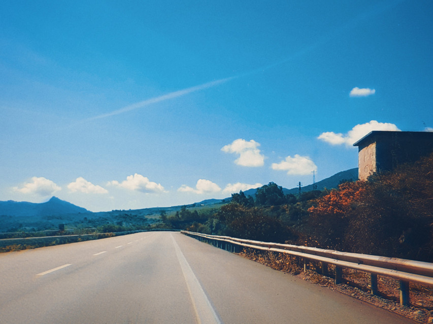 #freetoedit #road #sky #sicily #landscape #nature #tree #blu