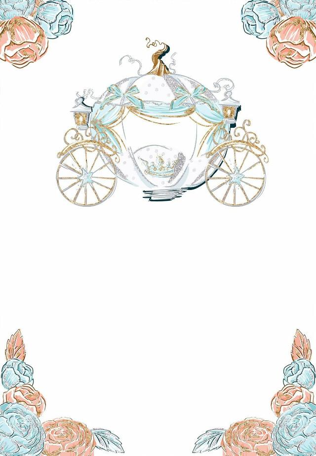 #card #invitation #cinderella #princess #roses #floral #flowers   #freetoedit