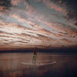 freetoedit sea evening awasome stars