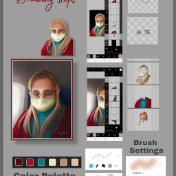 freetoedit drawingsteps howto drawnwithpicsart selfie
