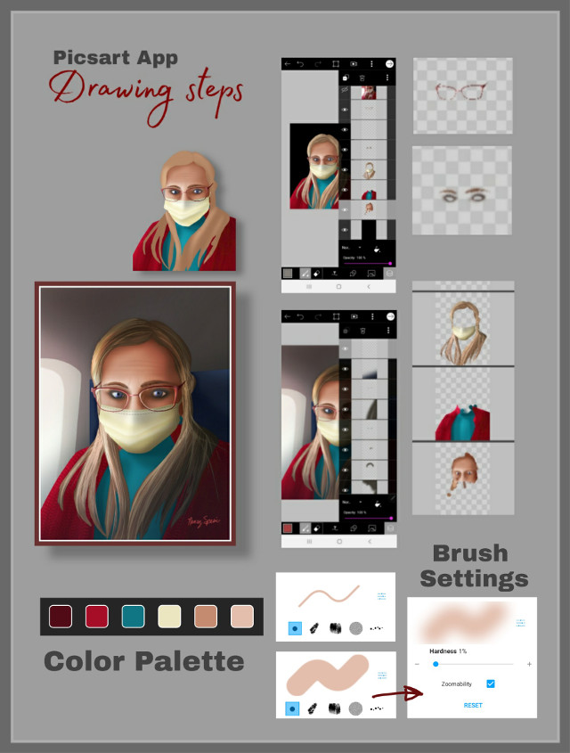 Portrait Drawing Steps #drawingsteps #howto #drawnwithpicsart #selfie #drawover #freetoedit  To see finished drawing tap the URL 👇 https://picsart.com/i/323731559581201