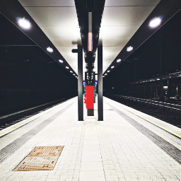 railwaystation night nopeople working