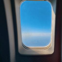 window empty airplanewindow sky remixme freetoedit