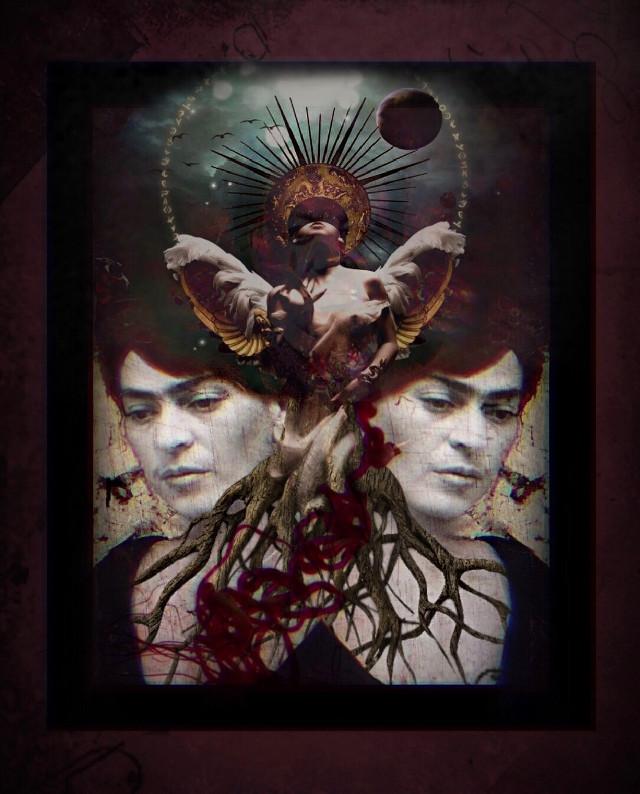 #fridakahlo #frida #unibrow_queen  #artist #babelart #lareina #inspiration #surrealism #doubleexposure #overlays #border #myedit   #freetoedit @unibrow_queen @zanytaz @_babel_art @lynyrd1
