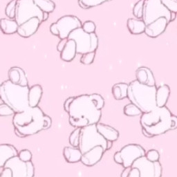 freetoedit bears pink aesthetic teddybear