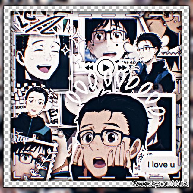 I LOVE THIS BOIIIII  #yuri #katsuki #katsukiyuri #yurikatsuki #yoi #yurionice #yuri!!onice #freetoedit