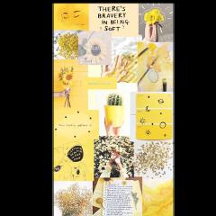 yellow aesthetic yelloweashtic foryou background freetoedit