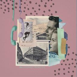 freetoedit collage scrapbook polkadots vintage