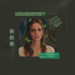 freetoedit emmawatson green aesthetic dark