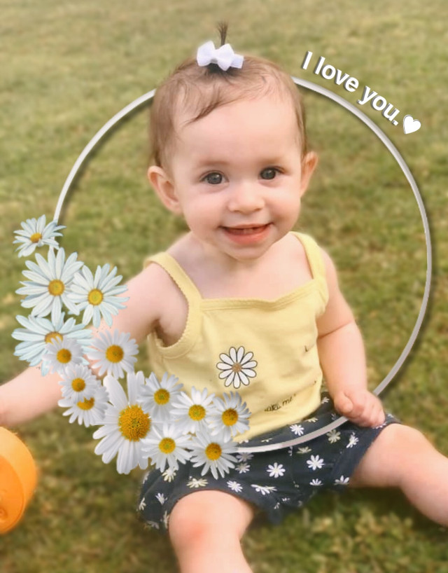 #freetoedit More Hazel! She's gonna be ONE YEAR OLD this week!!! Can you believe it?! I can't. I seriously can't.   #baby #love #iloveyou #cute #daisy #frame #blur #infant #sweet #happy #sunshine #interesting #art #people #spring #photography #smile