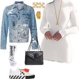 offwhite nycfashion ladiesfashion lookoftheday shoeoftheday freetoedit