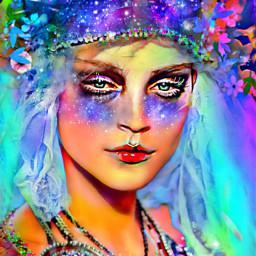 myoriginalwork originalart womanportrait colorful ethereal rcgalacticwindow freetoedit galacticwindow stayinspired