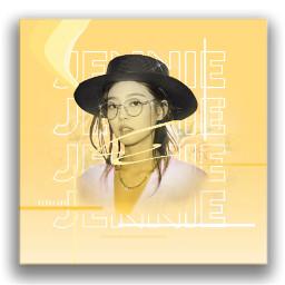 kpop graphicdesign aesthetic yellow blackpink freetoedit