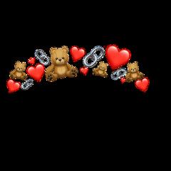 hearts bear emoji iphone freetoedit