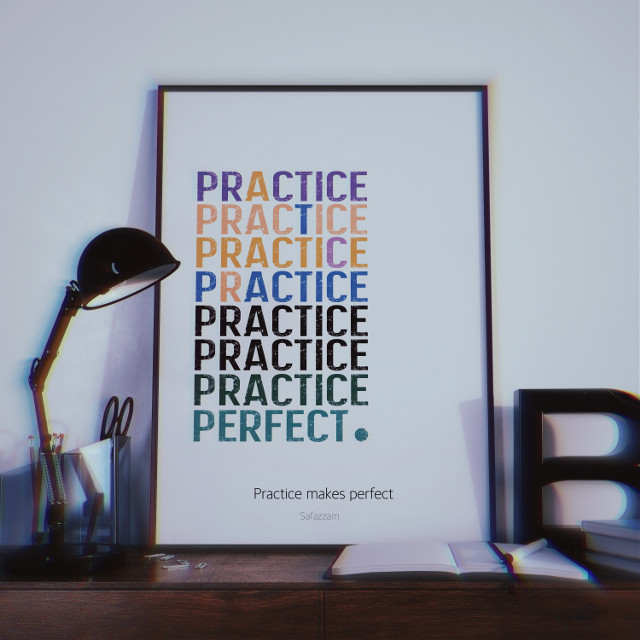 Practice makes perfect. #freetoedit