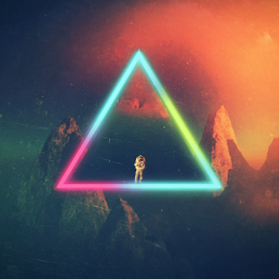 triangle hipster neon astronaunt space freetoedit
