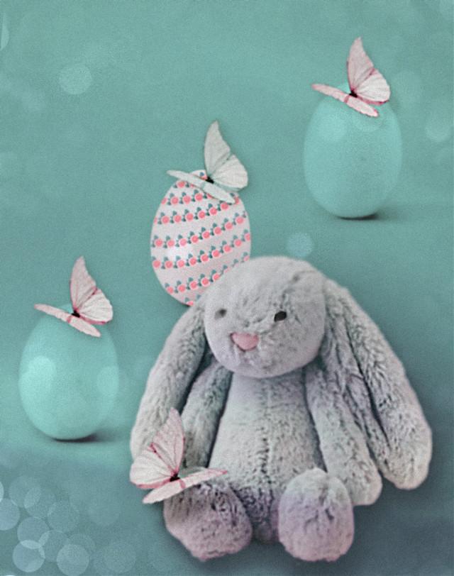 #bunny #butterflies #pastel #easter #spring #madewithpicsart #freetoedit