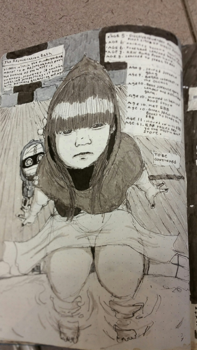 Staying busy.   #art #busy #black-and-white #topic #spellsword #drawing #girl