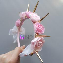 freetoedit headband flower flowerheadband pink