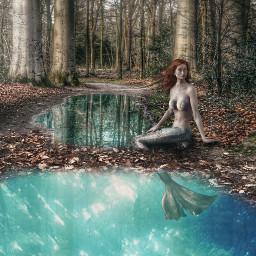 icyx madewithpicsart mermaid lake underwater freetoedit