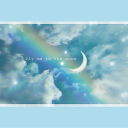 freetoedit flymetothemoon tealaesthetic moon aestheticallypleasing