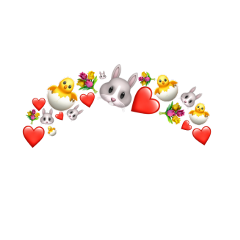 bunny easter hearts bloom new freetoedit