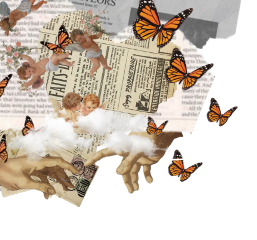 aesthetic collage renaissance paper butterfly freetoedit