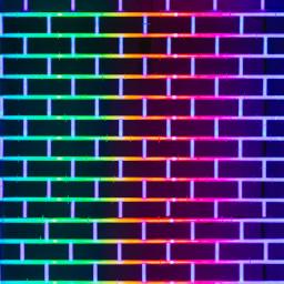 glitch brickwall bricks wall rainbow