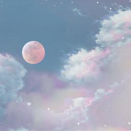 freetoedit aestheticsky nature moon cloudsbackground