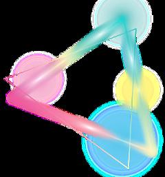triangle rainbow colors neon effect freetoedit