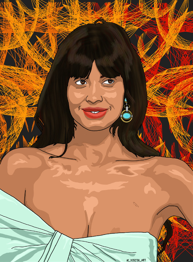 Here Jameela Jamil from the show The Good Place.  #AC_DIGITAL_ART #art #artist #picsart #picsartedit #painting #drawing #portrait #people #girl #girls #thegoodplace #jameelajamil