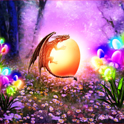 freetoedit easter dragon fantasyart fantasy irceggdecoration eggdecoration