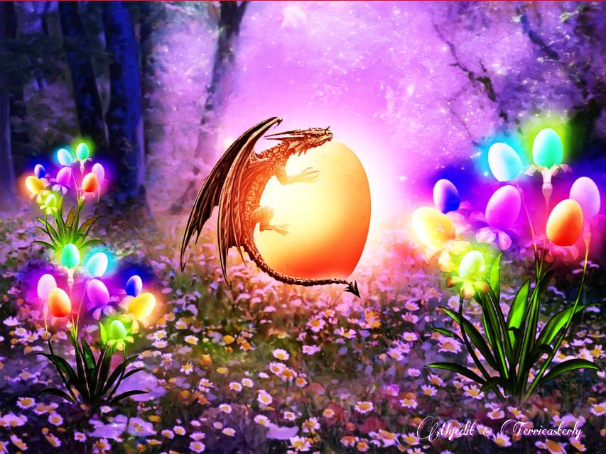 #freetoedit #easter #dragon #fantasyart #fantasy #makebelieve #imagination