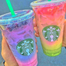 starbucks colors colorful aesthetic drinks
