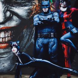 freetoedit batman harleyquinn batgirl cosplay