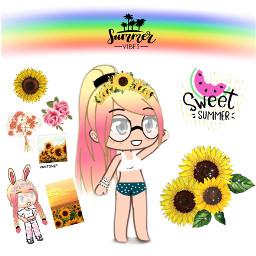 summer sunflower questions freetoedit