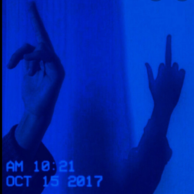 #darkblue #darkblueaesthetic  #freetoedit #remixit #middlefingerup