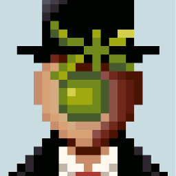 freetoedit pixelartbypicsart renemagritte maninblack apple