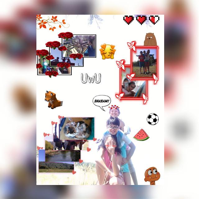 Le puse cosas q le gustan a ellos uwu #minecraft #naranjo #rojo #primos #campo #uwu #family #love